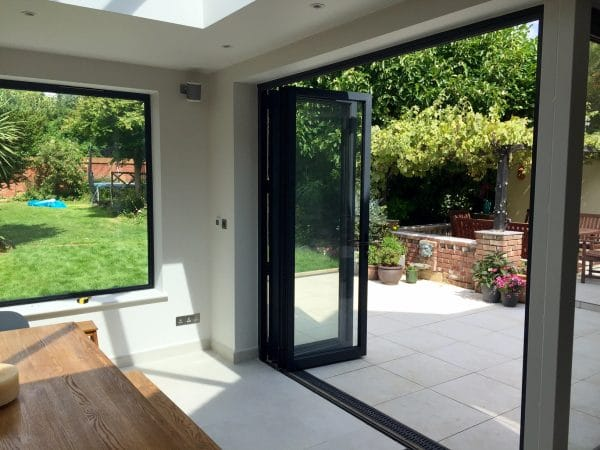 Bifold patio grey