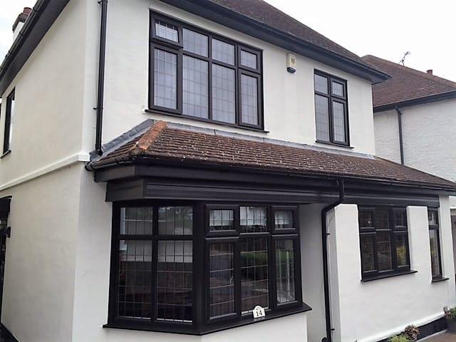 Plain glass windows - Black Is The New Black Windows Amp Doors Westcliff On Sea