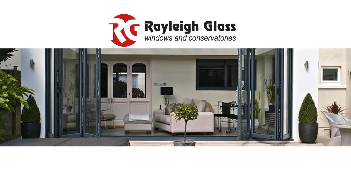 Rayleigh Glass Logo and Bi Fold Doors